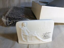Vintage Lladro Collectors Society Signed Display Name Stand Sign Plaque
