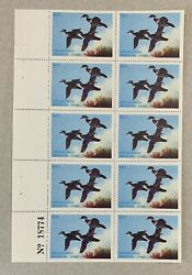 Wtdstamps - 1978 Wisconsin - State Duck Stamp - Mint Og Nh Full Sheet -