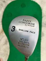 Nickent Super Concorde Shallow Face 16 3 Fairway Wood - R Hand - Mens -