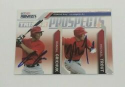 Mike Trout Randal Grichuk Signed 2009 Tristar Rookie Card Auto Angels Jsa Coa