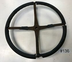 Ford Model A Rat Rod 💀 Spline Style Steering Wheel For Repair Or Core 136