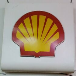 Shell Plastic Lighted Sign Gas Oil Vintage Collectable Man Cave Garage Decor