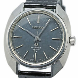 Grand Seiko 4520-7000 Hi-beat 36000 Antique Vintage 45gs Leather Glass Watch