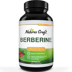 Berberine 1000mg Immune System Booster Liver Support Weight Loss Supplement 60ct
