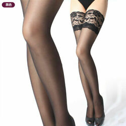 Lace Hold Up Sheer Thigh High Stockings