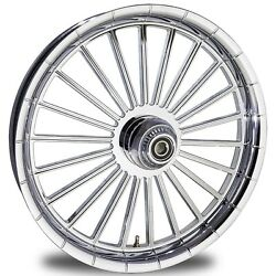 2000-2020 Harley Chrome 26 Inch Front Wheel With Floating Rotors Gambino