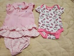 Dress And Hello Kitty Bodysuit Size 3 Months Girls