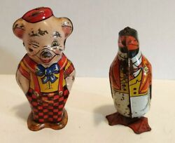 J. Chein And Co. Wind-up Pig And Penguin