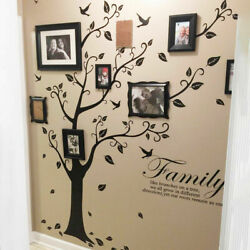 Removable Family Tree Wall Decals Mural Sticker DIY Art Vinyl Sticker Decor LZ.