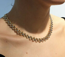 18k Yellow White Gold Necklace Made In Italy Brand Low Price High Discount 35