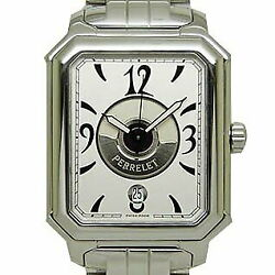 Perrelet Rectangle Royal Double Rotor Automatic Waterproof White Dial Excellent