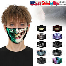 Fashion Face Mask 3D Printed Face Cover Washable Reusable Outdoor Protection US $7.49