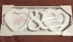 Double Heart Picture Frame-shabby Chic Distressed Farmhouse Style Global Ship