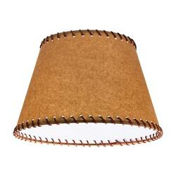Oiled Parchment 16 Inch Empire Washer Fitter Lamp Shade With Stitched Trim