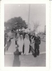 3 Vtg Photos Wwii Seabees Sailors Local People North Africa 17th-120th Battalion