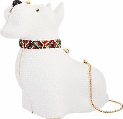YY Judith Leiber Dog Scottish Terrier Scottie White Bag Vintage Minaudiere Cryst