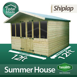 12 X 12 Supreme Summer House Log Cabin Officebar Shed High Quality Wooden Timber