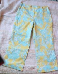 Lilly Pulitzer Yellow Jungle Animal Pants Size 12(Kids)