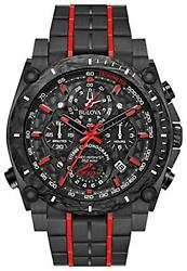 Bulova 98b313 Precisionist Menand039s Watch Black 46.5mm Black Ip Stainless Steel And