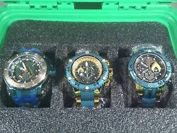 Dc Limited Edition Aquaman Watches New Collection With 3 Slot Case Rare