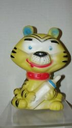 7 Vintage Tiger W/ Baby Bottle Squeeky Toy