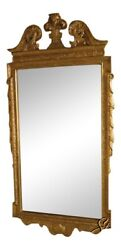 37716 Friedman Brothers 6780 Chippendale Gold Beveled Glass Mirror New