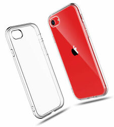 For Iphone Se 2020 Crystal Clear Shock Absorption Tpu Rubber Gel Case