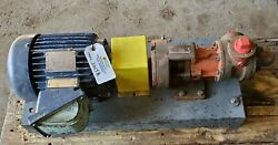 Spectrom Hl4124a Gear Pump 30 Gpm 100 Psi 2 Hp Explosion Proof Motor
