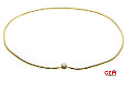 Pandora Ale Moments 3mm Snake Chain 14k 585 Yellow Gold Bead 17.8 Necklace