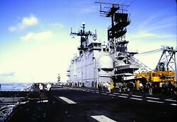 35mm Slides Photos Uss Nassau And Uss Guadalcanal Ships Portsmouth 1982 Lot X3