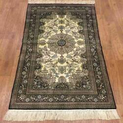 Yilong 3'x5' 400 Lines Handknotted Silk Classic Carpet Fine Quality Rug P035h