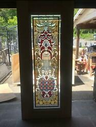 Beautiful Hand Made Stained Glass Victorian Style Entry Door - Jb23-1
