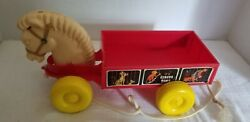 Rare Vintage It's Circus Time Horse/wagon Pull Toy