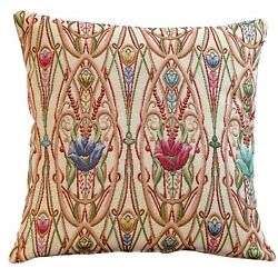 Classic Art Deco Cushion. 17x17 Square Cover. Traditional Mackintosh Tapestry.