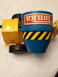 Tonka Cement Mixer On A Trailer, Also A Crain And A John Deere Back Hoe.