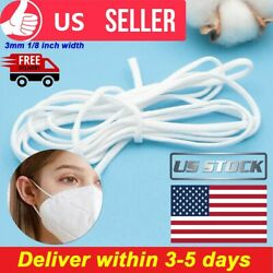 3mm Round Elastic Rope Band Cord Ear Hanging Tape Sewing Craft Diy For Face Mask