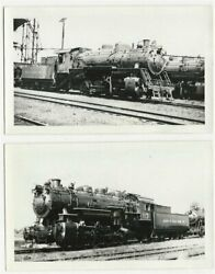 2 - Old Railroad Locomotive Photos - Detroit And Toledo Shore Line 's 111 And 113