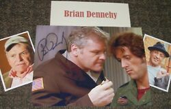 Brian Dennehy Autographed Photo Rp And Photos Movie Star/real Collectible