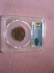 1829 Half Cent Pcgs Graded Ms63 Cac 1/2c Better Date