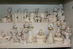 Huge Collection Of Mcm Spaghetti Poodles White + Gold Blue Eyes Rare Unique