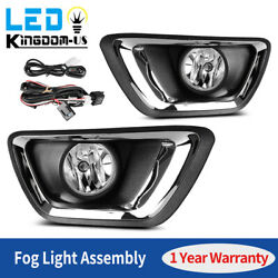 2pcs For 2015-2018 Chevy Colorado Clear Bumper Fog Lights Lamps W/ Wiring+switch