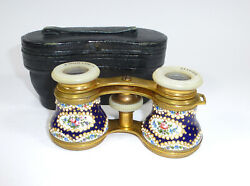 Opera Glasses Theater Glass Enamel About 1880 Manoah Rhodes And Sons Bradford