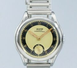 Tissot Small Second Bullseye Original Two-tone Dial Manual Vintage Watch 1940and039s