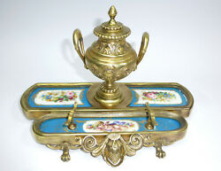 Extravagant Inkwell France About 1860 Bronze