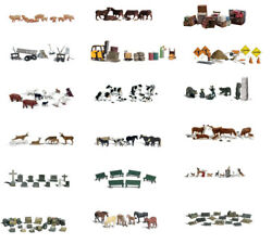 Hand-painted N Scale Animals And Accessories Sets Woodland Scenics