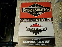 Briggs And Stratton Sign Service Center Sales Metal Tin Sign Shop Garage Metal Bands