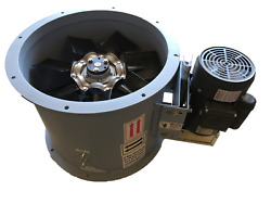 New 12 Dia Tube Axial Fan - 1 Hp - 1 Phase - 1,600 Cfm - Made In Usa