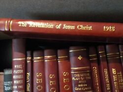 X-rare Revelation Jesus Christ Siniatic Text 1918 Watchtower Jehovah Leather