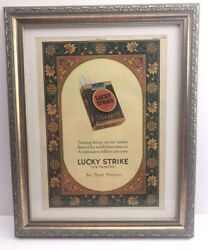 1927 Toasted Lucky Strike Tobacco Cigarettes Smoking Decor Campbell's Vintage Ad