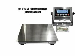 Optima Legal For Trade Washdown 10.000 Lbs X 2 Lb Floor Scale 4and039 X 4and039 X 4.2h